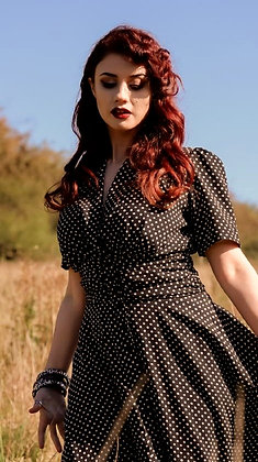 Clarice polka dot dress