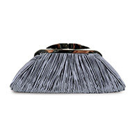 Satin pleat bag charcoal