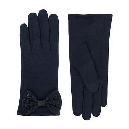 Jolie bow glove in navy