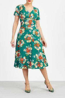 Bouquet green tea dress