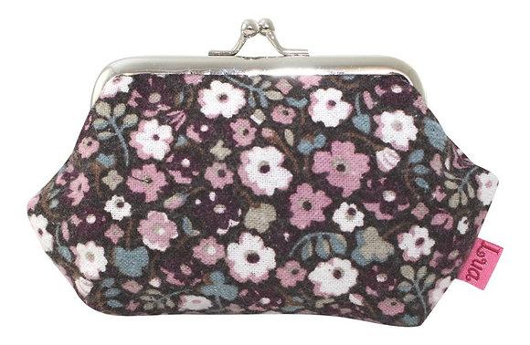 Clip frame coin purse plum