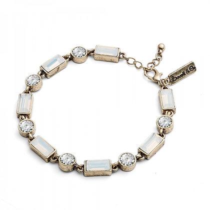 Milkstone 1950's bar style bracelet
