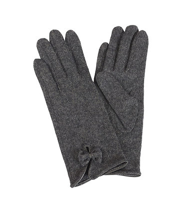 Bow gloves in charcoal