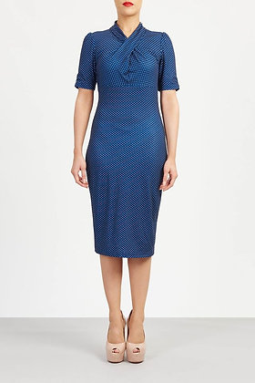 Tina dress blue spot
