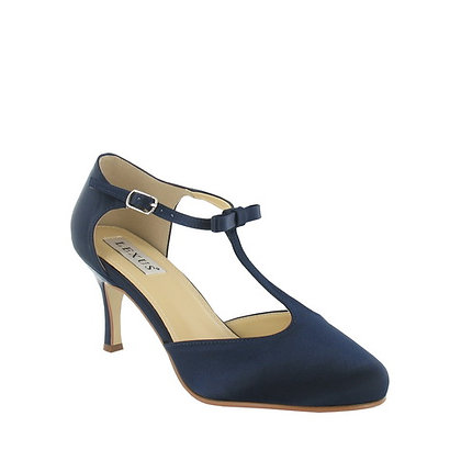 Stacey T bar shoes in navy