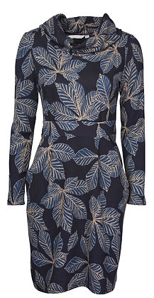 Navy leaf Dee dress