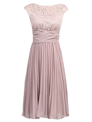 Pleats dress in dusty pink