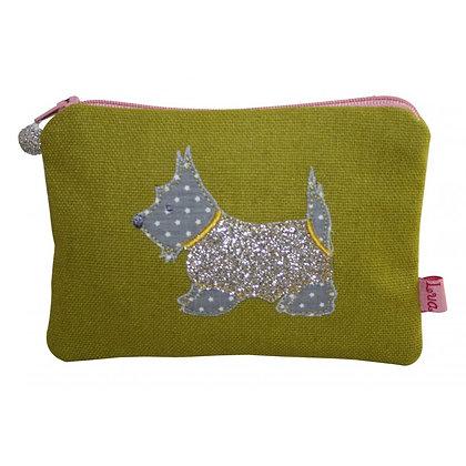 Scottie dog purse in mustard