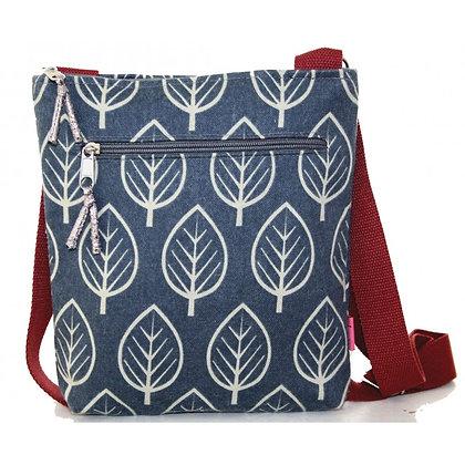 Leaf crossbody bag in blue