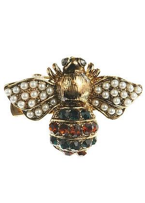 Metallic Crystal Bug Hairclip & Brooch
