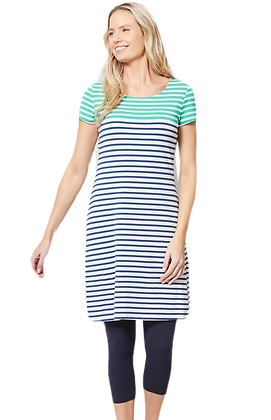 2 tone stripe dress