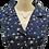 Thumbnail: Daisy print shirt dress in navy