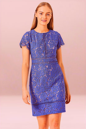 Hyacinth blue lace dress