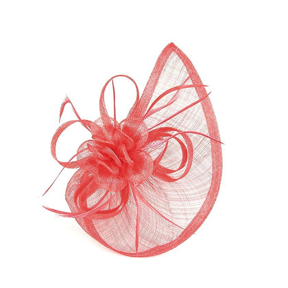Sail fascinator in red