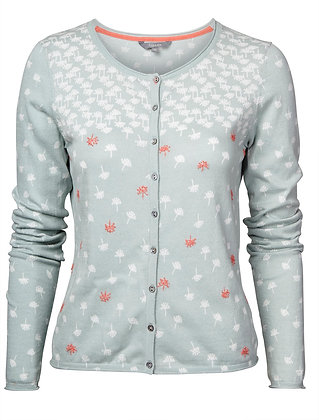 Pretty bud embroidered cardigan