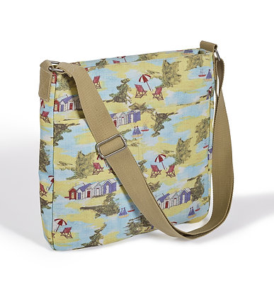 Seaside oilcloth crossbody bag