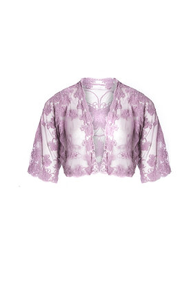 Lace jacket in lilac
