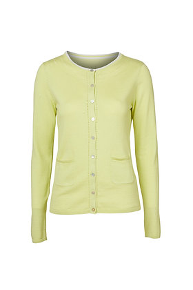 Pointelle knit cardigan in lime