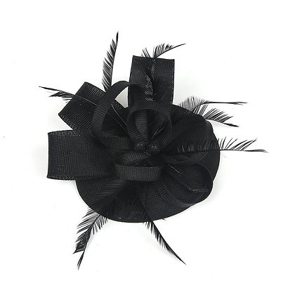 Black fascinator on band