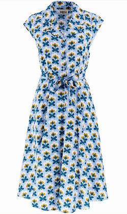 Geo daisy shirt dress in blue