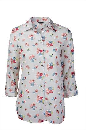 Victoria cream floral shirt