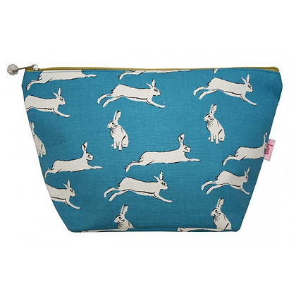 Hare print large cosmetic purse