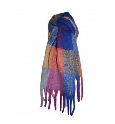 Cosy multi colour  bright tartan scarf