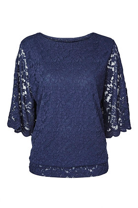 Lace top in navy