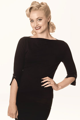 Audrey knit top in black