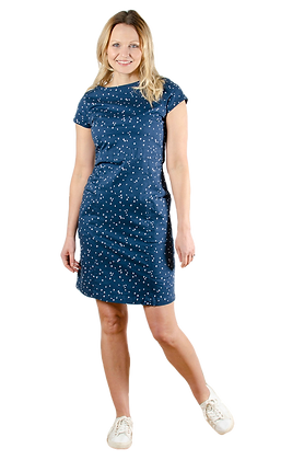 Victoria ditsy dress in navy