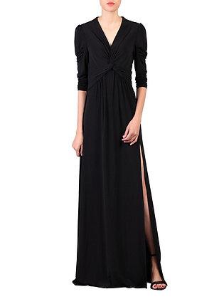 Twist top maxi dress in black