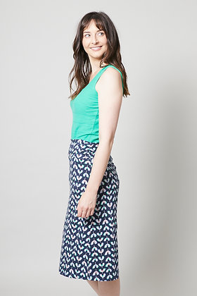 Waves jersey skirt in navy