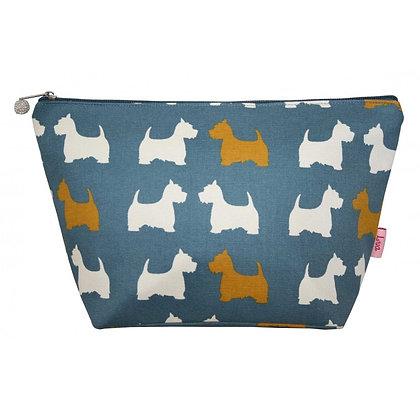 Scottie dog large cosmetic purse
