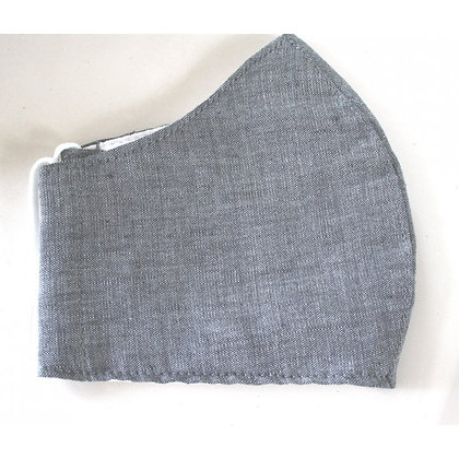 Curved cotton face mask denim