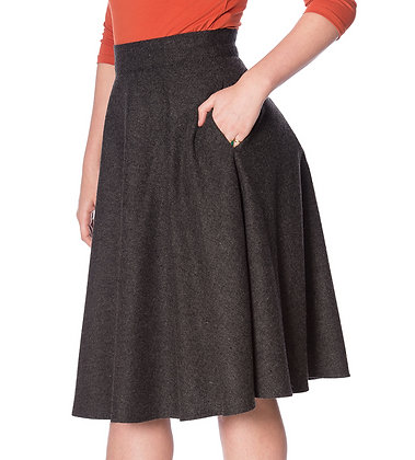 Swing skirt in charcoal grey