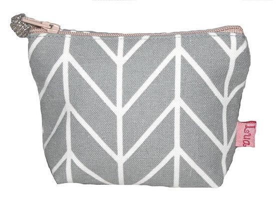 Chevron mini purse in grey