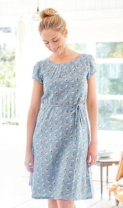 Westcoat dress in soft blue