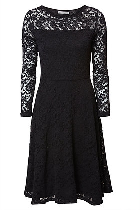 Isabelle lace dress in black