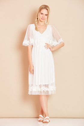 Serenity dress in white