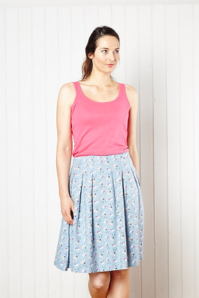 St Ives skirt in soft blue