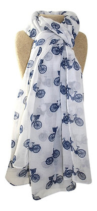 Bicycle scarf in white