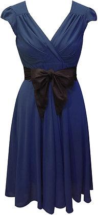 Regina dress in navy