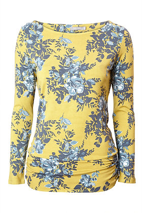 Sophie floral top in ochre