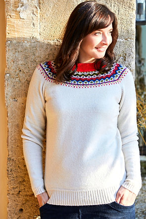 Fairisle sweater in cream