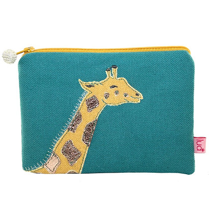 Giraffe purse in marine green