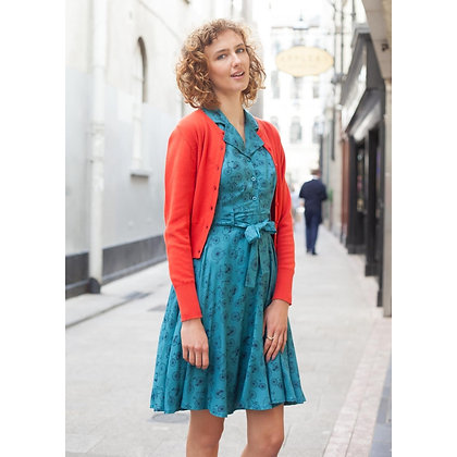 Bicycle shirt dress in teal