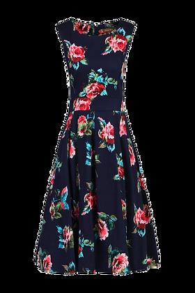 Navy roses dress