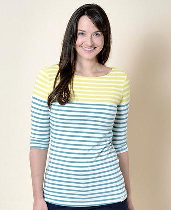 Monica two tone stripe top