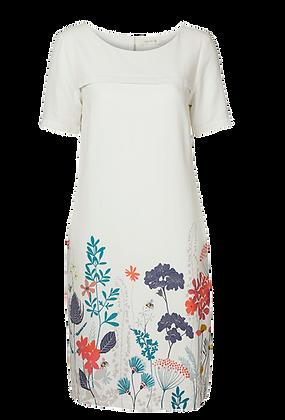 Border floral print shift dress