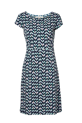 Waves jersey dress in navy